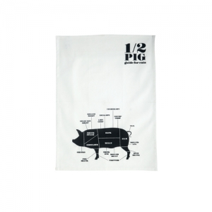 Tea towel 1/2 PIG