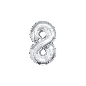 Number Balloon Silver 2size 0~9