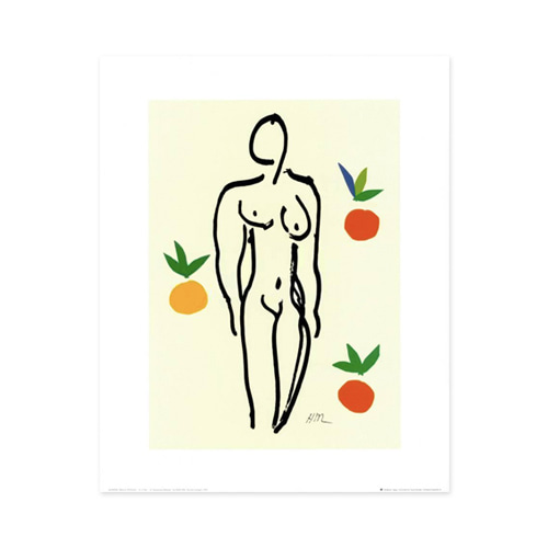 [앙리마티스] Nude with Oranges 40 x 50 cm