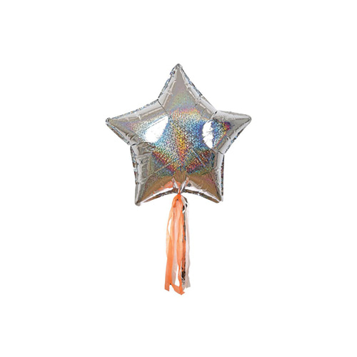 Silver Sparkly Star Balloon
