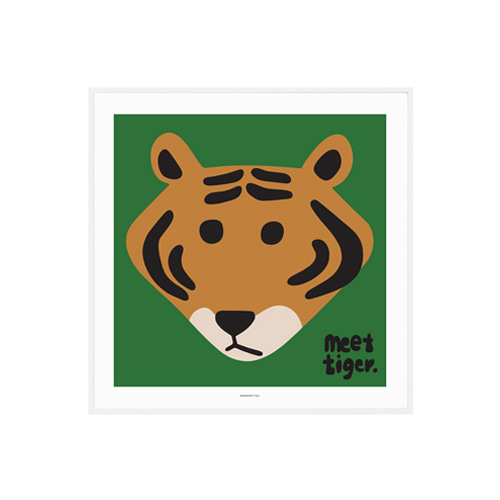 POSTER MEET TIGER GREEN 2size