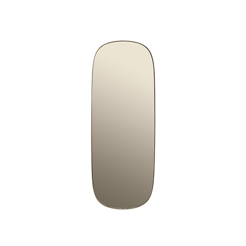 무토 프레임 미러 Framed Mirror Large Taupe Glass