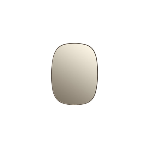 무토 프레임 미러 Framed Mirror Small Taupe Glass