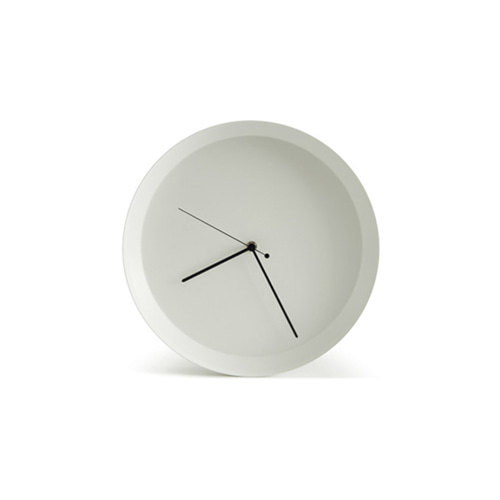 Dish Wall Clock White