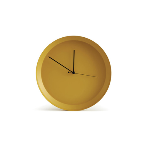 Dish Wall Clock Yellow