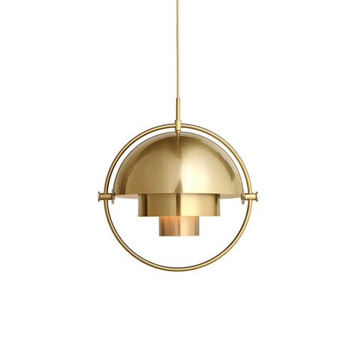 Multi Light Pendant All Brass