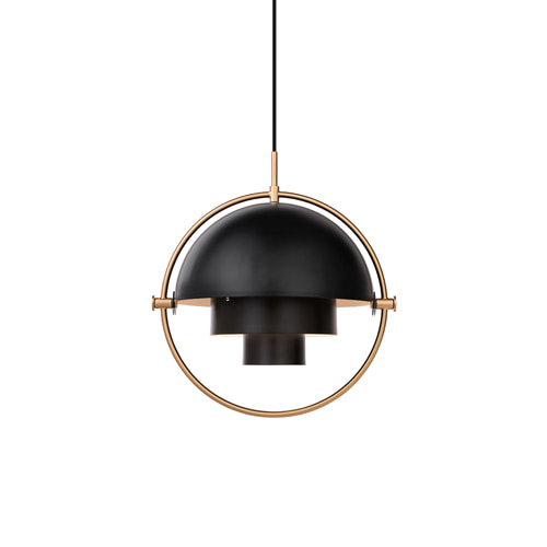 구비 멀티 라이트 팬던트 Multi Light Pendant Charcoal Black/Brass
