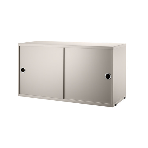 스트링 시스템 캐비넷 Cabinet with Sliding Doors Beige